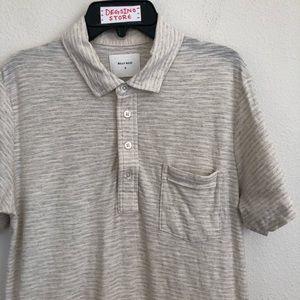 Billy Reid Striped Heather Pocket Polo Shirt